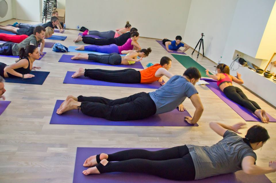 Yoga class Veronika Tulaeva