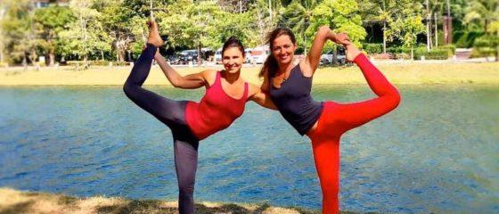 Натараджасана на прировде Йога на природе